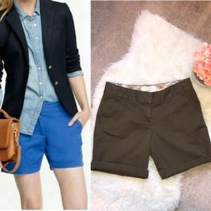J. Crew City Fit Classic Chino Shorts Olive Green